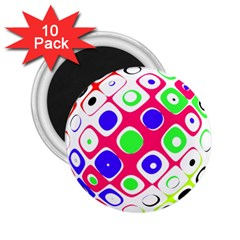 Color Ball Sphere With Color Dots 2 25  Magnets (10 Pack)  by Nexatart