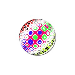 Color Ball Sphere With Color Dots Golf Ball Marker (4 Pack)