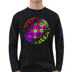 Color Ball Sphere With Color Dots Long Sleeve Dark T Shirts