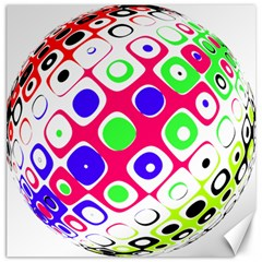 Color Ball Sphere With Color Dots Canvas 12  X 12   by Nexatart