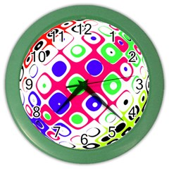 Color Ball Sphere With Color Dots Color Wall Clocks by Nexatart