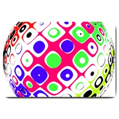 Color Ball Sphere With Color Dots Large Doormat  by Nexatart
