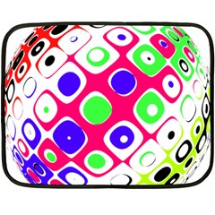 Color Ball Sphere With Color Dots Double Sided Fleece Blanket (mini)