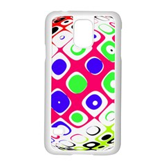 Color Ball Sphere With Color Dots Samsung Galaxy S5 Case (white) by Nexatart