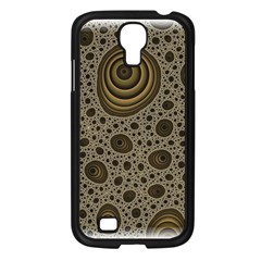 White Vintage Frame With Sepia Targets Samsung Galaxy S4 I9500/ I9505 Case (black) by Nexatart