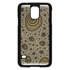 White Vintage Frame With Sepia Targets Samsung Galaxy S5 Case (black) by Nexatart