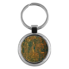 Black And Yellow Color Key Chains (round)  by Nexatart