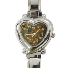 Black And Yellow Color Heart Italian Charm Watch by Nexatart