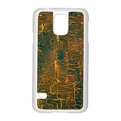 Black And Yellow Color Samsung Galaxy S5 Case (white) by Nexatart