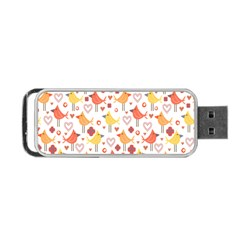 Happy Birds Seamless Pattern Animal Birds Pattern Portable Usb Flash (two Sides) by Nexatart