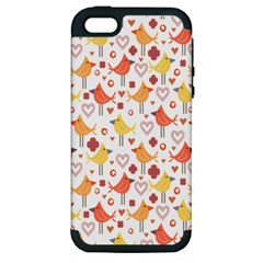 Happy Birds Seamless Pattern Animal Birds Pattern Apple Iphone 5 Hardshell Case (pc+silicone) by Nexatart