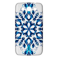 Blue Snowflake On Black Background Samsung Galaxy Mega 5 8 I9152 Hardshell Case  by Nexatart