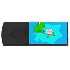 Frog Flower Lilypad Lily Pad Water Usb Flash Drive Rectangular (4 Gb) by Nexatart
