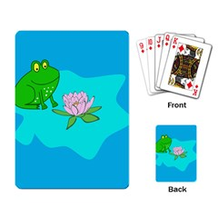 Frog Flower Lilypad Lily Pad Water Playing Card