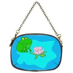 Frog Flower Lilypad Lily Pad Water Chain Purses (two Sides)