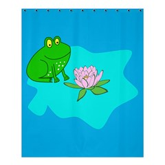 Frog Flower Lilypad Lily Pad Water Shower Curtain 60  X 72  (medium)