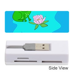 Frog Flower Lilypad Lily Pad Water Memory Card Reader (stick)