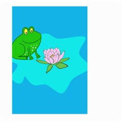 Frog Flower Lilypad Lily Pad Water Large Garden Flag (two Sides) by Nexatart