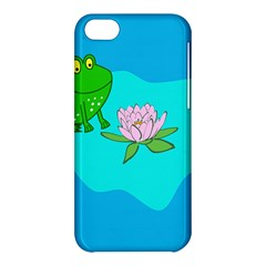 Frog Flower Lilypad Lily Pad Water Apple Iphone 5c Hardshell Case by Nexatart