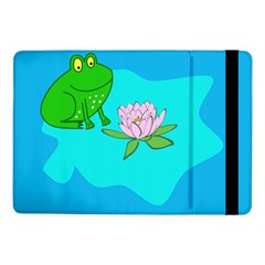 Frog Flower Lilypad Lily Pad Water Samsung Galaxy Tab Pro 10 1  Flip Case