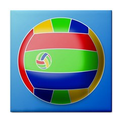 Balloon Volleyball Ball Sport Tile Coasters by Nexatart