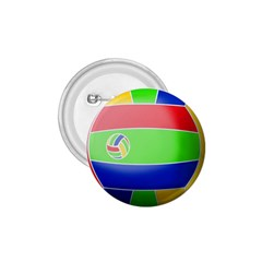 Balloon Volleyball Ball Sport 1 75  Buttons by Nexatart
