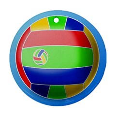 Balloon Volleyball Ball Sport Ornament (round) by Nexatart