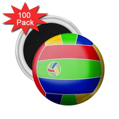 Balloon Volleyball Ball Sport 2 25  Magnets (100 Pack)  by Nexatart