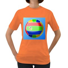 Balloon Volleyball Ball Sport Women s Dark T Shirt