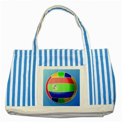 Balloon Volleyball Ball Sport Striped Blue Tote Bag