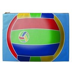Balloon Volleyball Ball Sport Cosmetic Bag (xxl)  by Nexatart