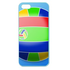 Balloon Volleyball Ball Sport Apple Seamless Iphone 5 Case (color) by Nexatart