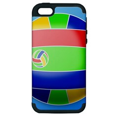 Balloon Volleyball Ball Sport Apple Iphone 5 Hardshell Case (pc+silicone) by Nexatart