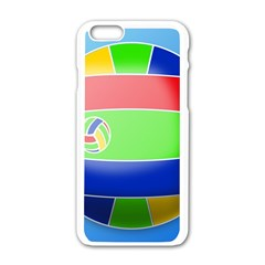 Balloon Volleyball Ball Sport Apple Iphone 6/6s White Enamel Case by Nexatart