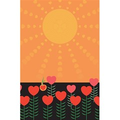 Love Heart Valentine Sun Flowers 5 5  X 8 5  Notebooks by Nexatart
