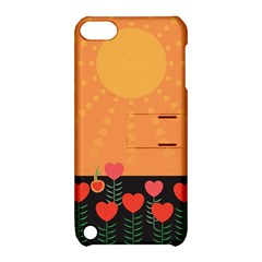 Love Heart Valentine Sun Flowers Apple Ipod Touch 5 Hardshell Case With Stand by Nexatart