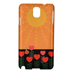 Love Heart Valentine Sun Flowers Samsung Galaxy Note 3 N9005 Hardshell Case by Nexatart
