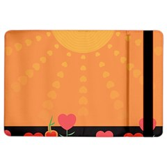 Love Heart Valentine Sun Flowers Ipad Air 2 Flip by Nexatart