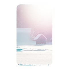Winter Day Pink Mood Cottages Memory Card Reader