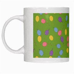 Balloon Grass Party Green Purple White Mugs by Nexatart