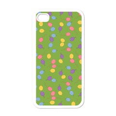 Balloon Grass Party Green Purple Apple Iphone 4 Case (white) by Nexatart