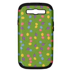 Balloon Grass Party Green Purple Samsung Galaxy S Iii Hardshell Case (pc+silicone) by Nexatart