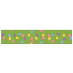 Balloon Grass Party Green Purple Flano Scarf (small) by Nexatart