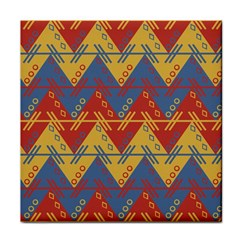 Aztec South American Pattern Zig Zag Tile Coasters by Nexatart