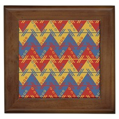 Aztec South American Pattern Zig Zag Framed Tiles by Nexatart