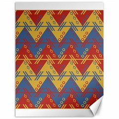 Aztec South American Pattern Zig Zag Canvas 12  X 16
