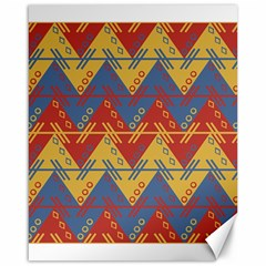 Aztec South American Pattern Zig Zag Canvas 16  X 20