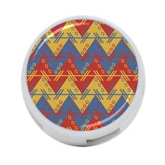 Aztec South American Pattern Zig Zag 4 Port Usb Hub (two Sides)
