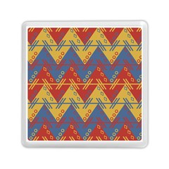Aztec South American Pattern Zig Zag Memory Card Reader (square)  by Nexatart