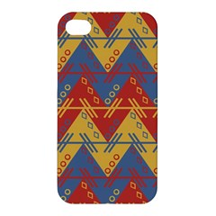 Aztec South American Pattern Zig Zag Apple Iphone 4/4s Premium Hardshell Case